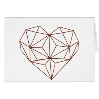 Cartão design oxidação-geométrico do coração