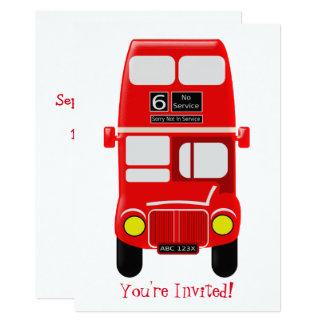 Cartão Design personalizado do ônibus
