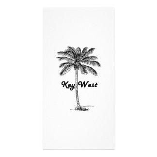 Cartão Design preto e branco de Key West Florida & da