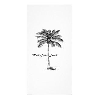 Cartão Design preto e branco de West Palm Beach & de