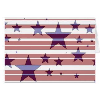 Cartão Design vermelho, branco, e azul da bandeira dos