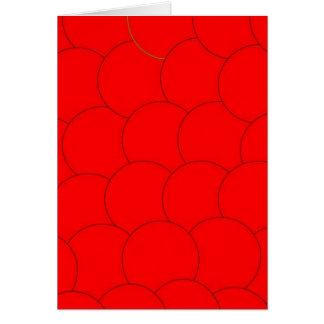 Cartão Design vermelho da bolha