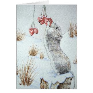 Cartão Design vermelho dos animais selvagens da cena da