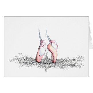 Cartão Deslizadores do balé