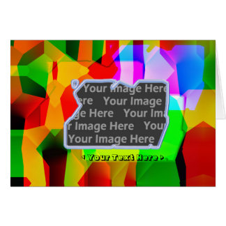Cartão Deslocamento da cor (quadro da foto)