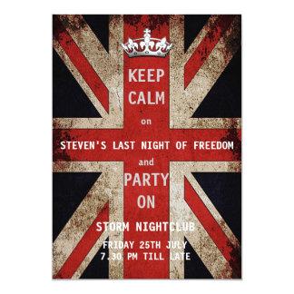 Cartão Despedida de solteiro BRITÂNICO da bandeira de