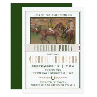 Cartão Despedida de solteiro da corrida de cavalos de