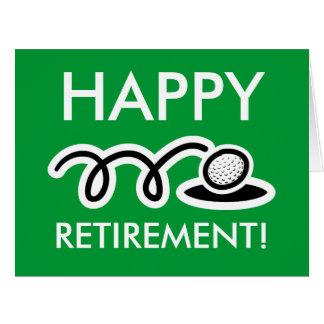Cartão desproporcionado grande da aposentadoria