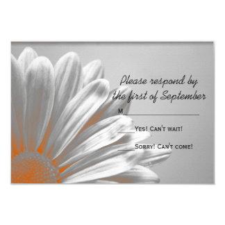Cartão Destaques florais alaranjados que Wedding a