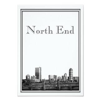 Cartão Destino de Boston que Wedding North End