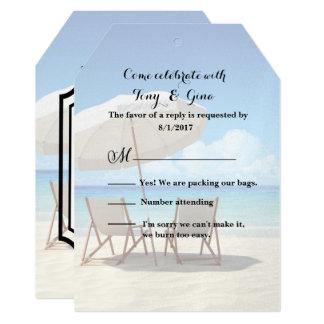 Cartão Destino de Cancun que Wedding RSVP