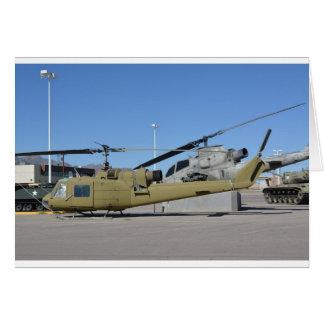 Cartão Destino dos aviões dos helicópteros de Huey & de