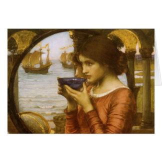 Cartão Destino pelo Waterhouse de JW, arte do Victorian