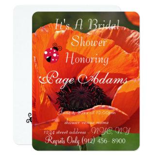 Cartão Destino romântico do chá de panela do joaninha da