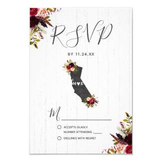 Cartão Destino RSVP Wedding rústico do estado de