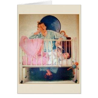Cartão destituído sono do dia dos pais do vintage