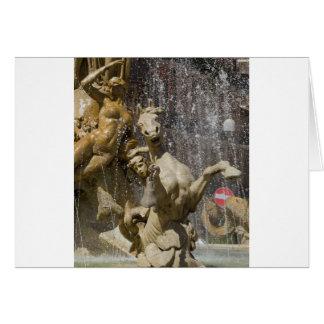 Cartão Detalhe de d'Artemide de Fontana, Ortigia