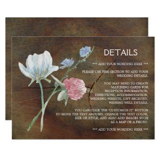 Cartão Detalhe do casamento da madeira de carvalho do