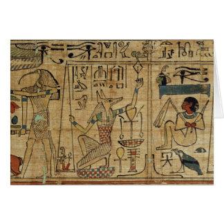 Cartão Detalhe do papiro de Nespakashuty, Kingd novo