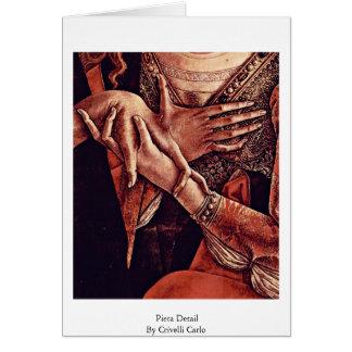 Cartão Detalhe do Pieta por Crivelli Carlo