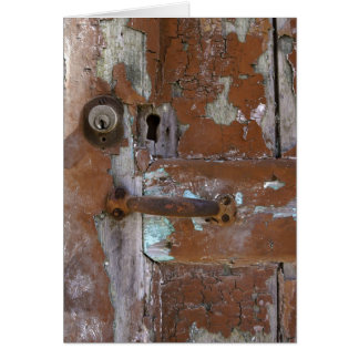 Cartão Detalhe velho da porta