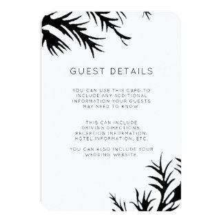 Cartão Detalhes botânicos do convidado do casamento