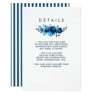 Cartão Detalhes florais do convidado da aguarela | do