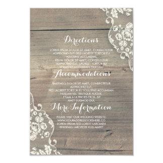 Cartão Detalhes rústicos da informação da madeira e do