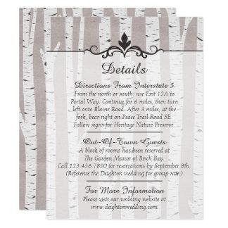 Cartão Detalhes/sentidos rústicos do casamento da árvore