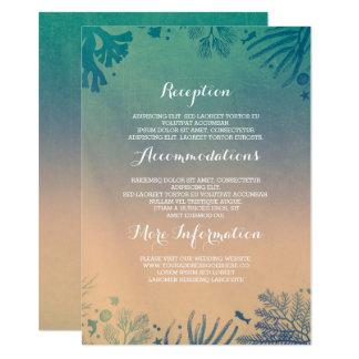 Cartão Detalhes subaquáticos do casamento da cerceta da