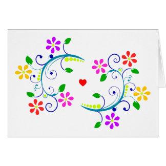 Cartão Deus abençoe de maio você, com flores,
