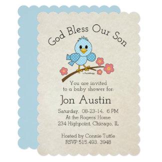 Cartão Deus abençoe nosso filho: Personalizado