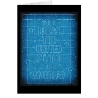 Cartão Deus abençoe os EUA