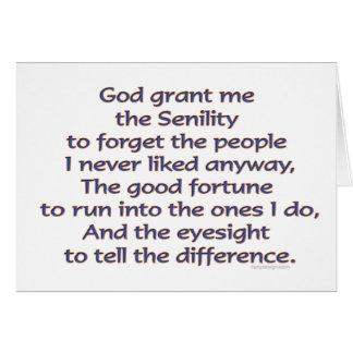 Cartão Deus Grant mim humor