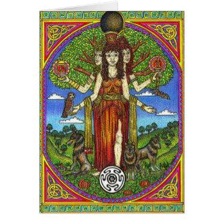 Cartão Deusa de Hercate das estradas transversais,