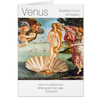 Cartão Deusa de Venus de amor e de beleza