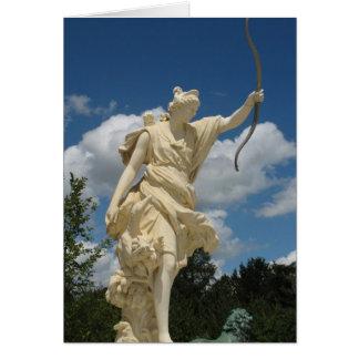 """Cartão Deusa Diana--O subtítulo lê-o """"é minha deusa """""""
