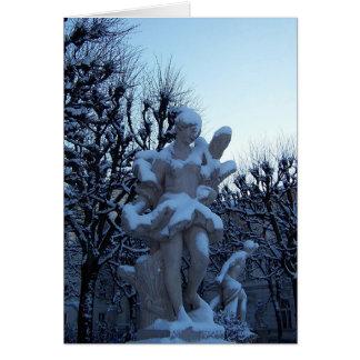 Cartão Deusa nevado