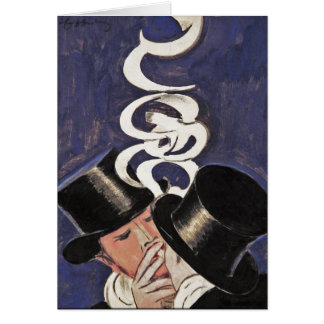 Cartão Deux Fumeurs por Cappiello