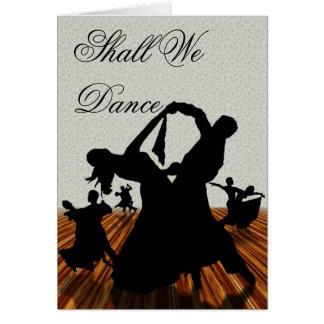 Cartão Devemos nós dançamos