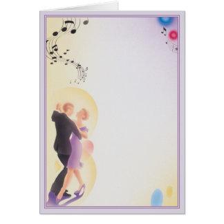 Cartão Devemos nós dançamos o ©