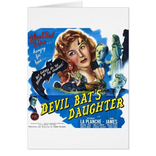 Cartão Devil Bat's Daughter, vintage horror movie poster
