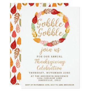 Cartão Devore devoram o tema do outono da acção de graças