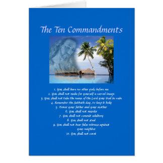 Cartão Dez mandamentos