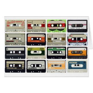 Cartão Dezesseis cassetes áudio