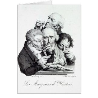Cartão d'Huitres de Les Mangeurs, 1825
