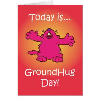 Cartão Dia à terra do abraço