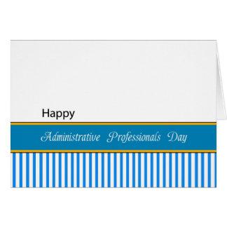 Cartão Dia administrativo dos profissionais
