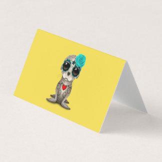 Cartão Dia azul do leão de mar inoperante do bebê