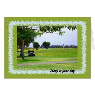 Cartão Dia, campo de golfe & jogador de golfe de Boses
